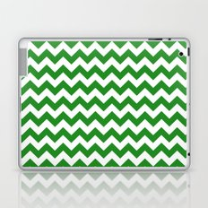Chevron (Forest Green/White) Laptop & iPad Skin