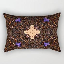 Black Tea Leaves With Lavender Cornflower Bergamot And Vanilla Energy Essence Rectangular Pillow