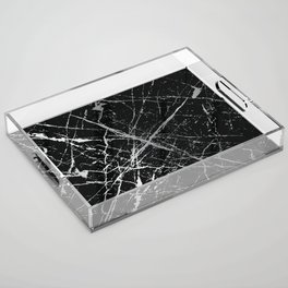Silver Splatter 090 Acrylic Tray