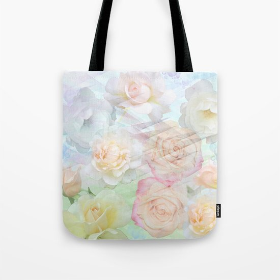 Romantic roses in pastels Tote Bag