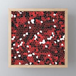 Red Polycamo Framed Mini Art Print