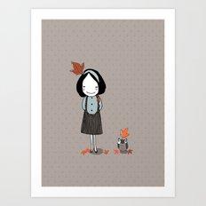 Autumn in my heart Art Print