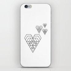 Hex heart iPhone & iPod Skin