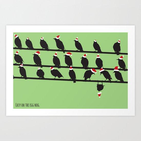Christmas Birds Art Print