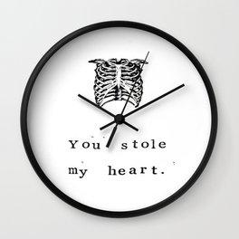You Stole My Heart Anatomy Print Wall Clock