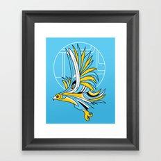 Hawk Deco Framed Art Print