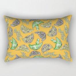 """Oro?"" Cactus Mustard Rectangular Pillow"