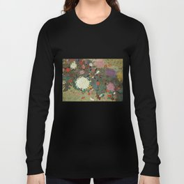flower【Japanese painting】 Long Sleeve T-shirt