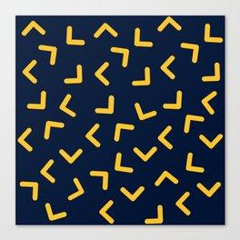 Boomerangs / V pattern Canvas Print