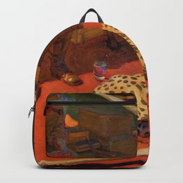 Akseli Gallen-Kallela - Hunter And A Cheetah - Digital Remastered Edition Backpack