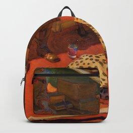 Akseli Gallen-Kallela - Hunter And A Cheetah - Digital Remastered Edition Backpack