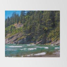 Oswald Beach, Oregon Throw Blanket