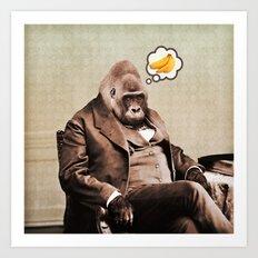 Gorilla My Dreams Art Print