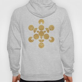 ICOSAHEDRON FRUIT OF LIFE minimal sacred geometry Hoody