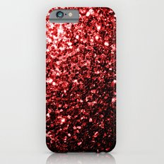 Beautiful Glamour Red Glitter sparkles Slim Case iPhone 6s
