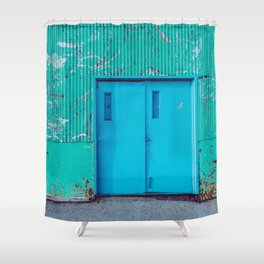 Happy Warehouse Shower Curtain