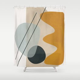 Abstract Shapes No.27 Shower Curtain