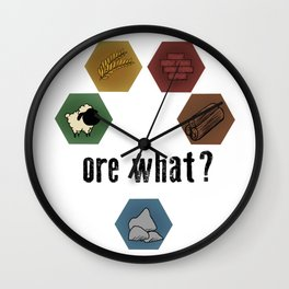 Settlers of Catan - ore what? Wall Clock