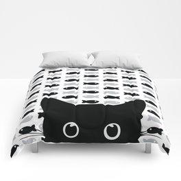 Crazy Cat Eyes Comforters