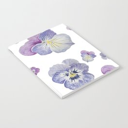 Watercolor Pansy Pattern Notebook