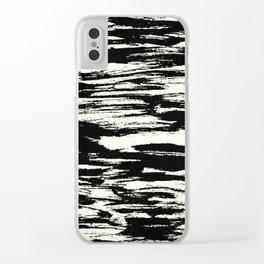 Brush Stripe 2 Clear iPhone Case