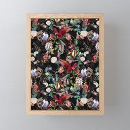 Floral and Birds IX Framed Mini Art Print