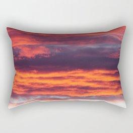 An hour with pink Rectangular Pillow
