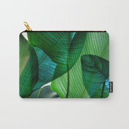 Palm leaf jungle Bali banana palm frond greens Carry-All Pouch