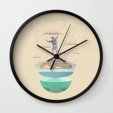 Clouds fisherman Wall Clock
