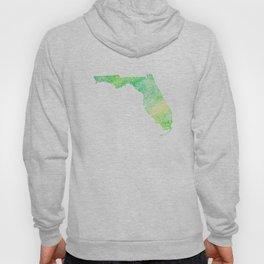 Typographic Florida - green watercolor Hoody