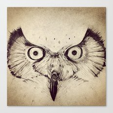 Deconstructed Owl Face Canvas Print