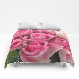 Pink Roses Bouquet Comforters