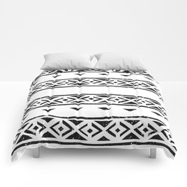 Black And White Pattern Wallpaper Print Comforters