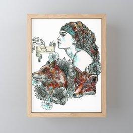 Red Fox. Framed Mini Art Print