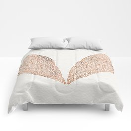 Cicada Wings in Rose Gold Comforters
