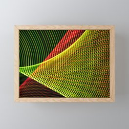 Abstract colorful lines on black background. Framed Mini Art Print