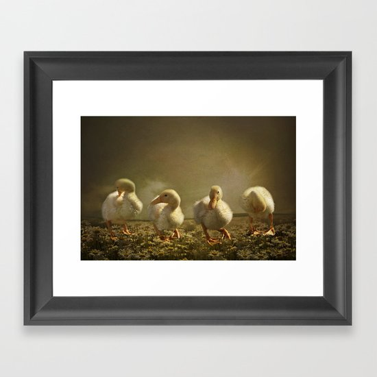 Dancing On Daisies Framed Art Print