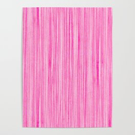 Luscious Lollypop Pink Striped Candy Design Poster
