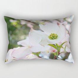 blush kissed dogwood with bokeh Rectangular Pillow
