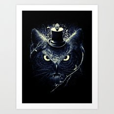 Meowl (Blue) Art Print