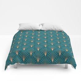 Copper Metallic Art Deco Comforters