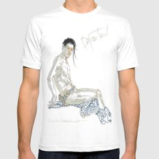 Departed MEDIUM Mens Fitted Tee White