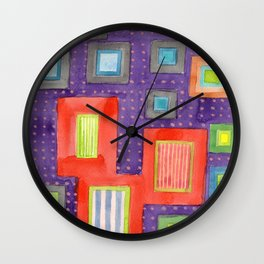 Various Frames on dotted Wall Wall Clock