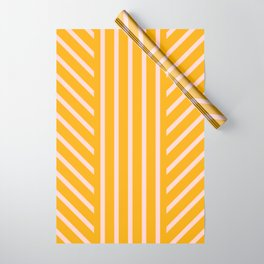 Lined Marigold Wrapping Paper