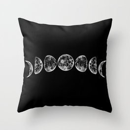 The Lunar Cycle Throw Pillow