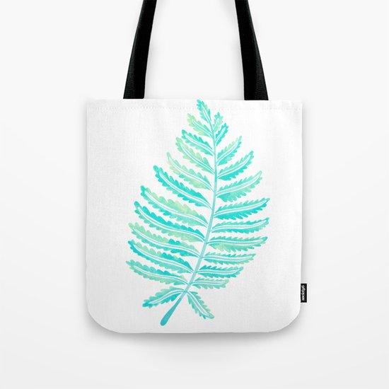 Fern Leaf – Turquoise Palette Tote Bag