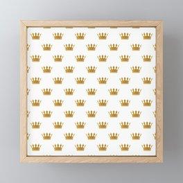 Wedding White Gold Crowns Framed Mini Art Print