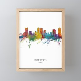 Fort Worth Texas Skyline Framed Mini Art Print