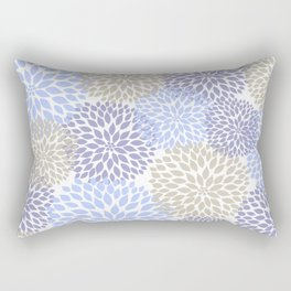 Periwinkle Floral Bouquet Rectangular Pillow