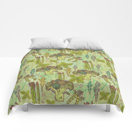 Green vegetables pattern. Comforters